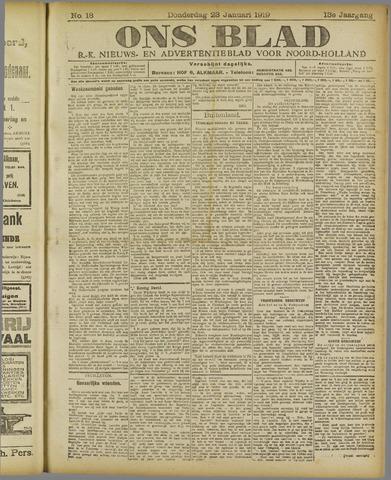 Ons Blad : katholiek nieuwsblad voor N-H 1919-01-23
