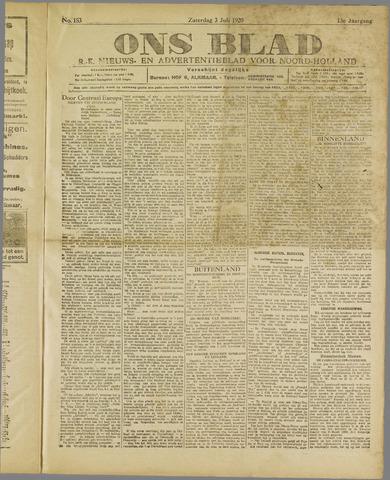 Ons Blad : katholiek nieuwsblad voor N-H 1920-07-03