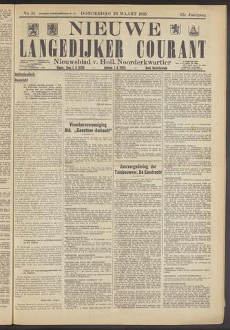 Nieuwe Langedijker Courant 1933-03-23