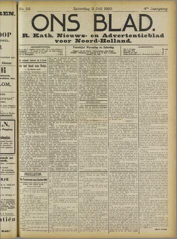 Ons Blad : katholiek nieuwsblad voor N-H 1910-07-02