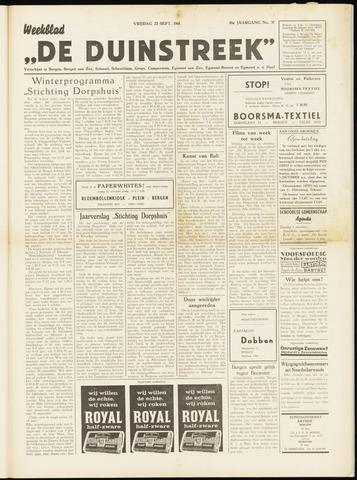 De Duinstreek 1961-09-22
