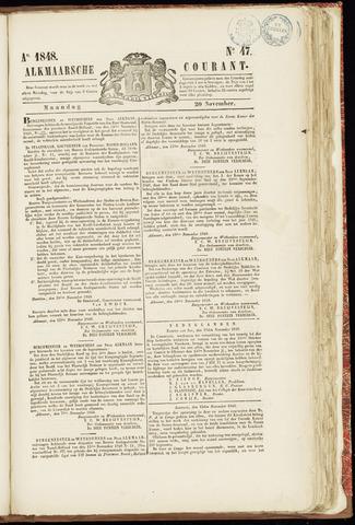 Alkmaarsche Courant 1848-11-20