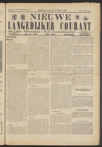 Nieuwe Langedijker Courant 1933-08-22