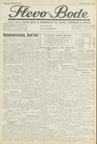 Flevo-bode: nieuwsblad voor Wieringen-Wieringermeer 1949-11-09