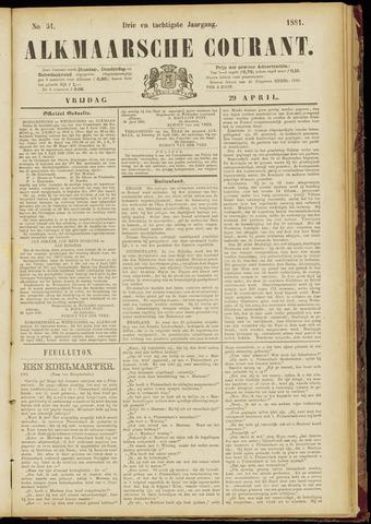 Alkmaarsche Courant 1881-04-29