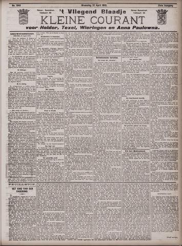 Vliegend blaadje : nieuws- en advertentiebode voor Den Helder 1903-04-22