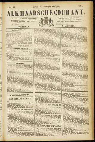 Alkmaarsche Courant 1885-08-07