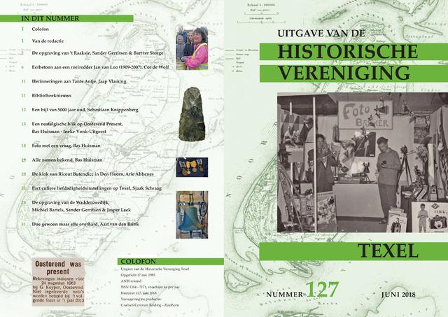 Uitgave Historische Vereniging Texel 2018-06-01