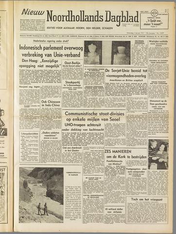 Nieuw Noordhollandsch Dagblad : voor Alkmaar en omgeving 1951-01-03