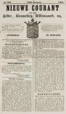 Nieuwe Courant van Den Helder 1865-01-18