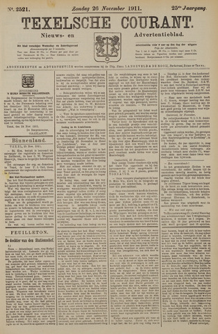 Texelsche Courant 1911-11-26