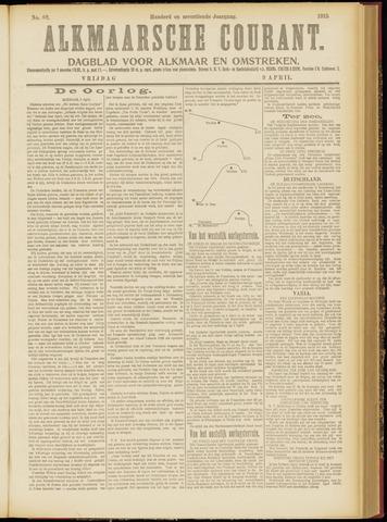 Alkmaarsche Courant 1915-04-09