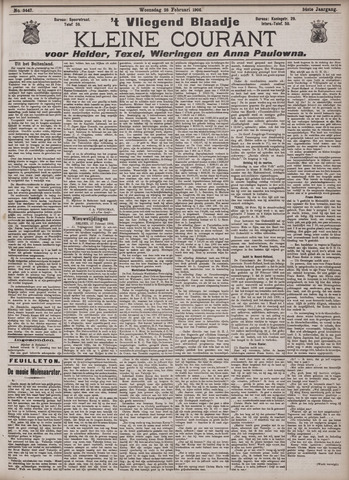 Vliegend blaadje : nieuws- en advertentiebode voor Den Helder 1906-02-28