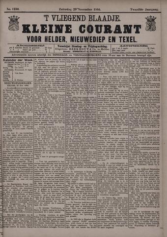 Vliegend blaadje : nieuws- en advertentiebode voor Den Helder 1884-11-29