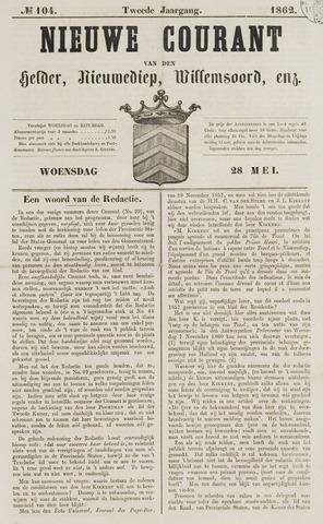 Nieuwe Courant van Den Helder 1862-05-28