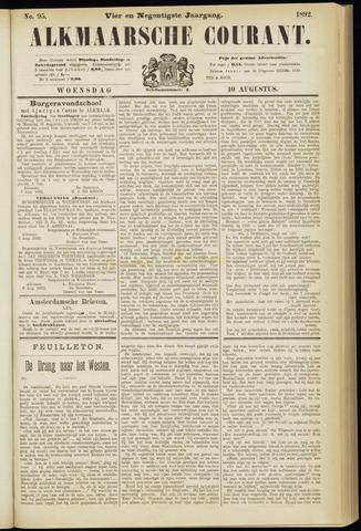 Alkmaarsche Courant 1892-08-10