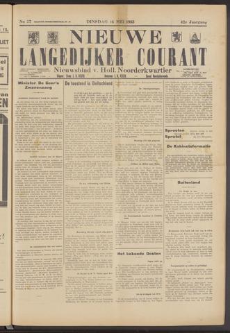Nieuwe Langedijker Courant 1933-05-16