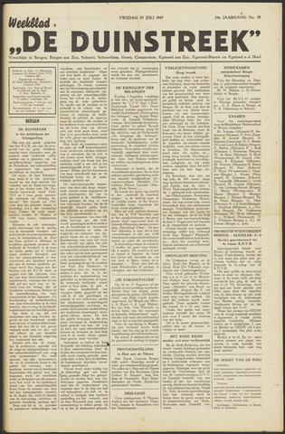 De Duinstreek 1947-07-25