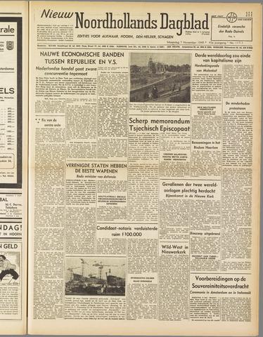 Nieuw Noordhollandsch Dagblad : voor Alkmaar en omgeving 1949-11-07