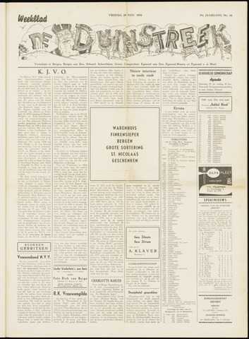 De Duinstreek 1958-11-28
