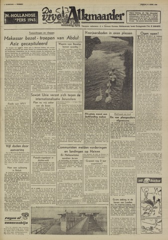 De Vrije Alkmaarder 1950-04-21