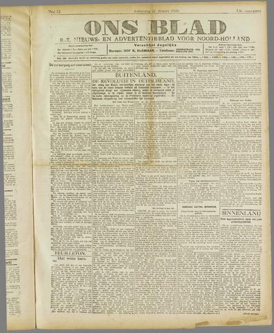 Ons Blad : katholiek nieuwsblad voor N-H 1920-03-27
