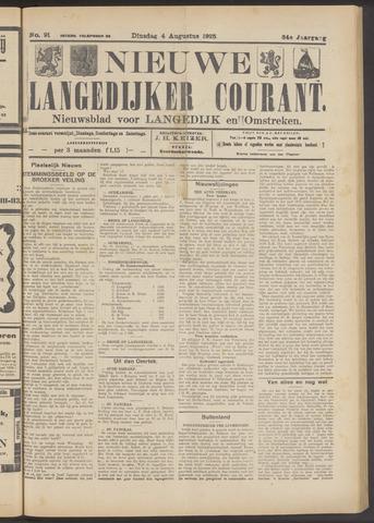 Nieuwe Langedijker Courant 1925-08-04