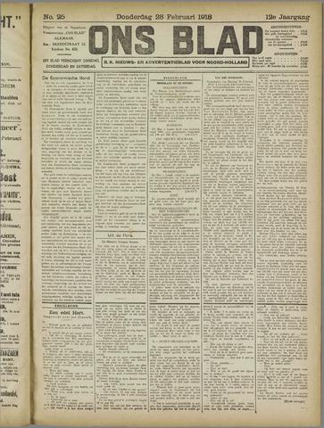 Ons Blad : katholiek nieuwsblad voor N-H 1918-02-28