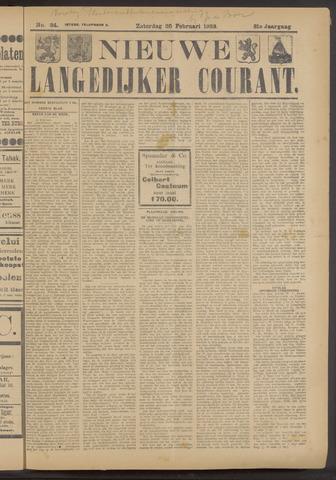 Nieuwe Langedijker Courant 1922-02-25