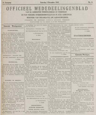 Mededeelingenblad Wieringermeer en Wieringen 1942-12-05