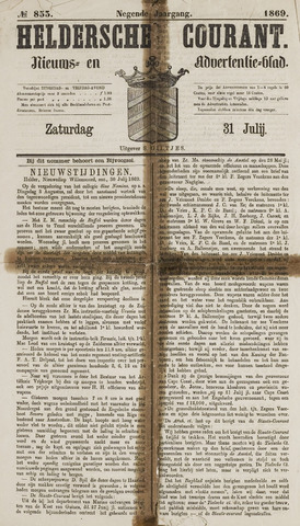 Heldersche Courant 1869-07-31