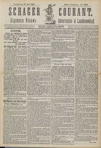 Schager Courant 1920-05-27
