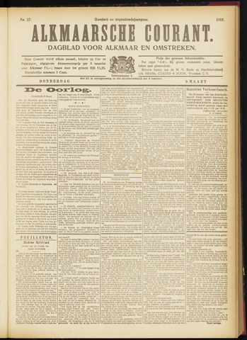 Alkmaarsche Courant 1917-03-08