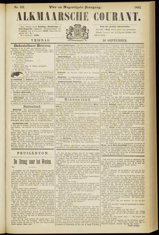 Alkmaarsche Courant 1892-09-16