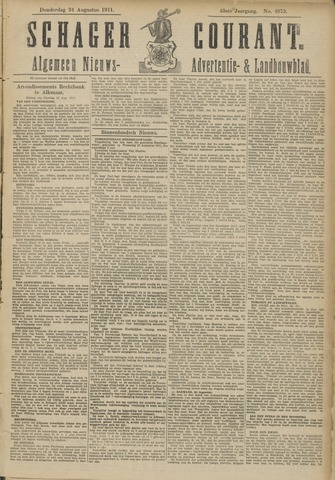 Schager Courant 1911-08-24