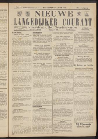 Nieuwe Langedijker Courant 1931-06-27
