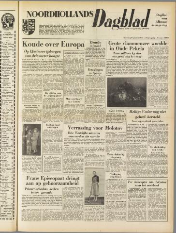 Noordhollands Dagblad : dagblad voor Alkmaar en omgeving 1954-01-27