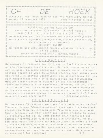 Op De Hoek, weekblad voor Akersloot 1961-02-17