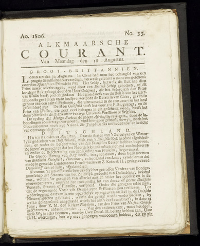 Alkmaarsche Courant 1806-08-18