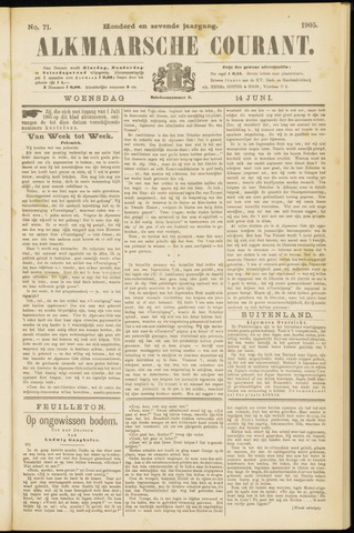 Alkmaarsche Courant 1905-06-14
