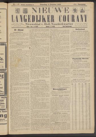 Nieuwe Langedijker Courant 1928-10-09