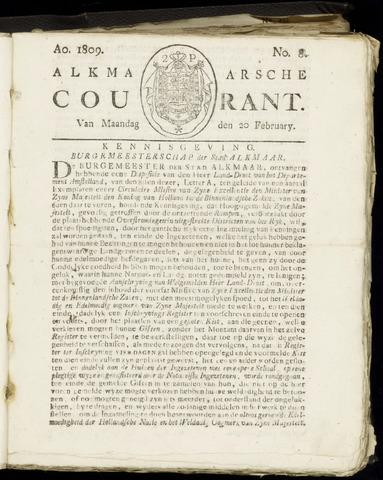 Alkmaarsche Courant 1809-02-20
