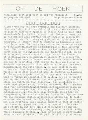Op De Hoek, weekblad voor Akersloot 1963-05-10