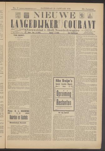 Nieuwe Langedijker Courant 1930-01-25