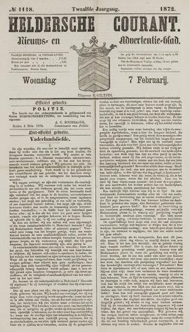 Heldersche Courant 1872-02-07