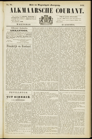 Alkmaarsche Courant 1891-08-12