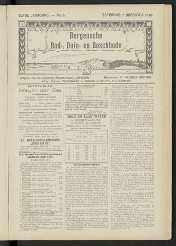 Bergensche bad-, duin- en boschbode 1920-08-07