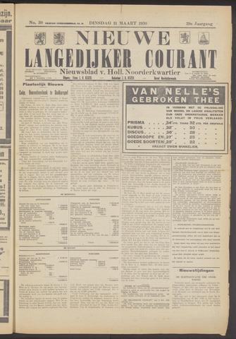 Nieuwe Langedijker Courant 1930-03-11
