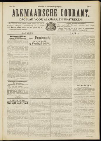 Alkmaarsche Courant 1912-04-15