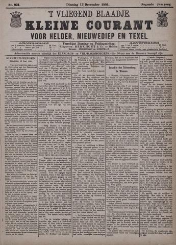 Vliegend blaadje : nieuws- en advertentiebode voor Den Helder 1881-12-13